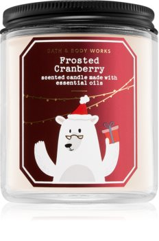 Bath & Body Works Frosted Cranberry vonná svíčka IV.