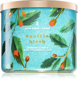 Bath & Body Works Vanilla Birch scented candle With Essential Oils