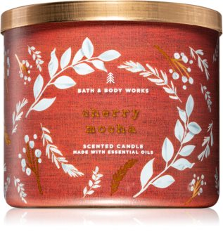 Bath & Body Works Cherry Mocha vonná svíčka