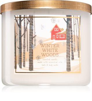 Bath & Body Works Winter White Woods illatos gyertya