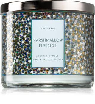 Bath & Body Works Marshmallow Fireside scented candle With Essential Oils I.