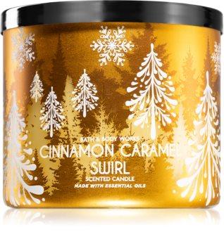 Bath & Body Works Cinnamon Caramel Swirl vela perfumada  I.
