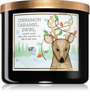 Bath & Body Works Cinnamon Caramel Swirl αρωματικό κερί ΙΙ.