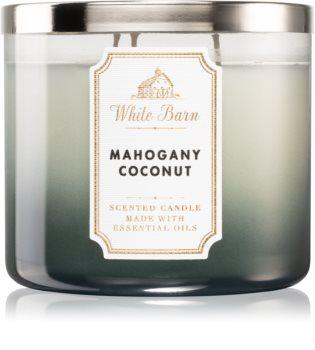 Bath & Body Works White Barn Mahogany Coconut świeczka zapachowa