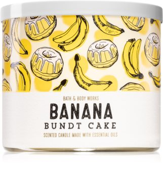 Bath & Body Works Banana Bundt Cake vela perfumada