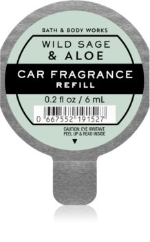 Bath & Body Works Wild Sage & Aloe vôňa do auta náhradná náplň