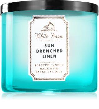 Bath & Body Works Sun-Drenched Linen illatos gyertya  esszenciális olajokkal
