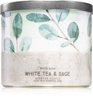 Bath & Body Works White Tea& Sage vonná svíčka