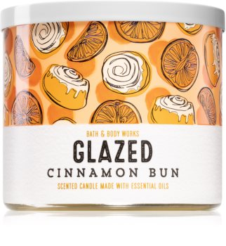 Bath & Body Works Glazed Cinnamon Bun vela perfumada