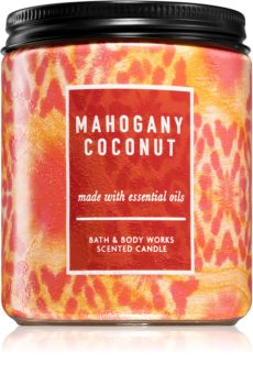 Bath & Body Works Mahagony Coconut ароматна свещ  I.