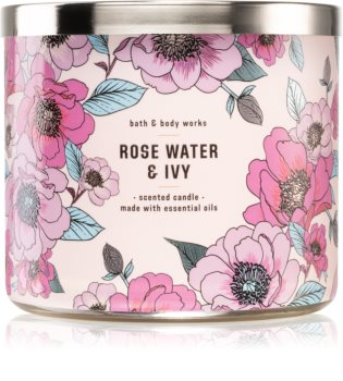 Bath & Body Works Rose Water & Ivy vonná sviečka