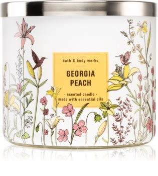 Bath & Body Works Georgia Peach vela perfumada
