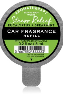 Bath & Body Works Stress Relief Eukalyptus Spearmint luftfrisker til bil Genopfyldning