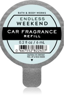 Bath & Body Works Endless Weekend désodorisant voiture recharge