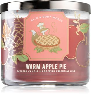 Bath & Body Works Warm Apple Pie scented candle I.