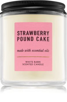 Bath & Body Works Strawberry Pound Cake scented candle I.
