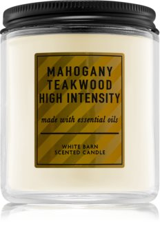Bath & Body Works Mahogany Teakwood  High Intensity candela profumata V