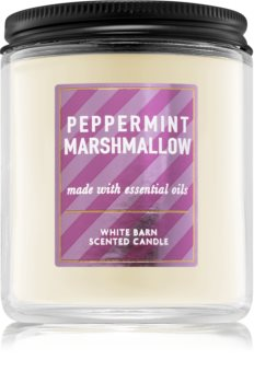 Bath & Body Works Peppermint Marshmallow lumânare parfumată