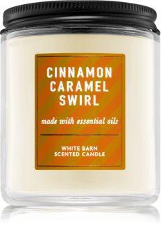 Bath & Body Works Cinnamon Caramel Swirl scented candle I.