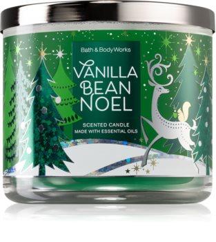 Bath & Body Works Vanilla Bean Noel lumânare parfumată  cu uleiuri esentiale I.