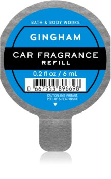 Bath & Body Works Gingham vôňa do auta náhradná náplň