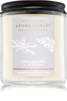 Bath & Body Works Aromatherapy Cedarwood Vanilla candela profumata