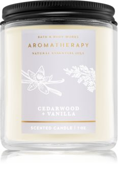 Bath & Body Works Aromatherapy Cedarwood Vanilla vonná svíčka