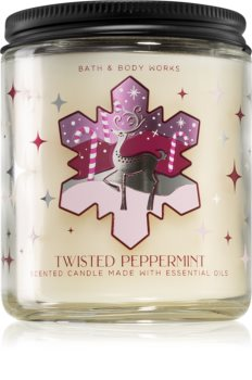 Bath & Body Works Twisted Peppermint vonná svíčka I.