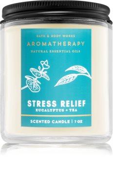 Bath & Body Works Stress Relief Eucalyptus Tea illatos gyertya