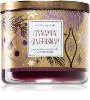 Bath & Body Works Cinnamon Gingersnap ароматна свещ