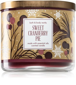 Bath & Body Works Sweet Cranberry Pie vonná svíčka