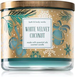 Bath & Body Works White Velvet Coconut vonná svíčka