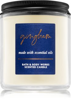 Bath & Body Works Gingham scented candle I.