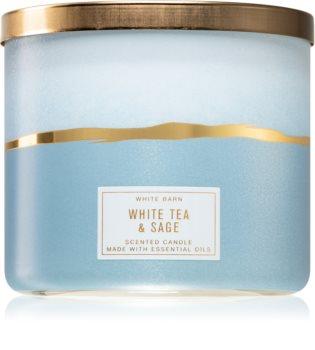 Bath & Body Works White Tea & Sage vonná svíčka
