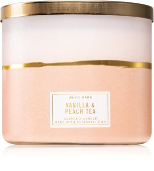 Bath & Body Works Vanilla & Peach Tea scented candle