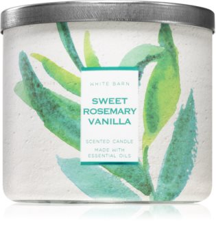Bath & Body Works Sweet Rosemary Vanilla scented candle
