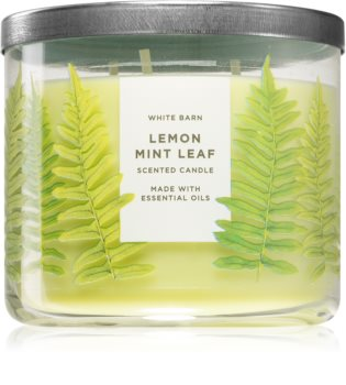 Bath & Body Works Lemon Mint Leaf ароматна свещ
