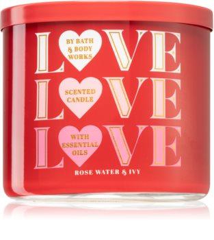 Bath & Body Works Rose Water & Ivy mirisna svijeća