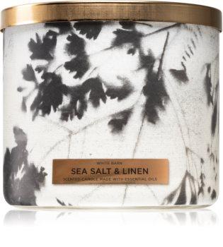 Bath & Body Works Sea Salt & Linen vonná svíčka
