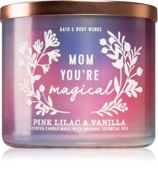 Bath & Body Works Pink Llilac & Vanilla vonná svíčka