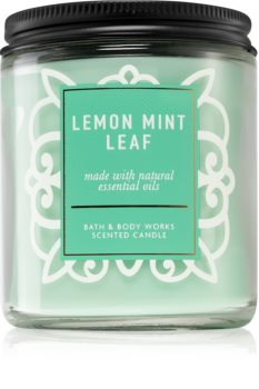 Bath & Body Works Lemon Mint Leaf lumânare parfumată  I.