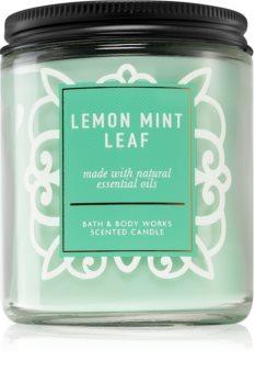 Bath & Body Works Lemon Mint Leaf scented candle I.