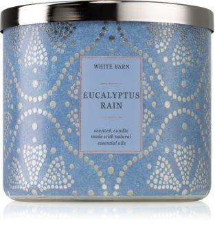 Bath & Body Works Eucalyptus Rain lumânare parfumată  cu uleiuri esentiale I.