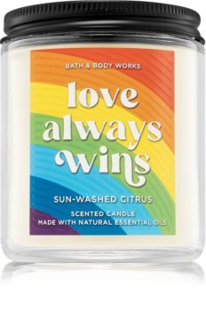 Bath & Body Works Love Always Wins scented candle I.