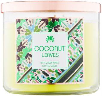 Bath & Body Works Coconut Leaves vela perfumada  411 g