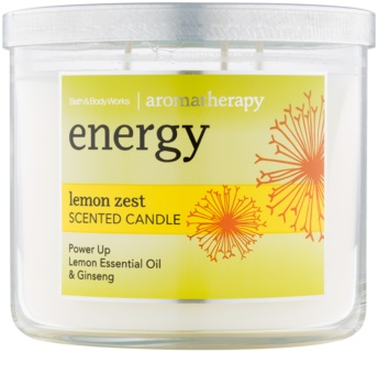 Bath & Body Works Energy Lemon Zest vela perfumado 411 g