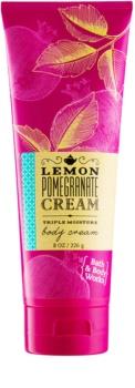 Bath & Body Works Lemon Pomegranate telový krém pre ženy 226 g