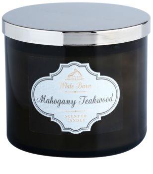 Bath & Body Works White Barn Mahogany Teakwood illatos gyertya