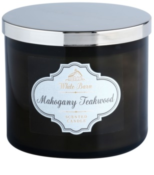 Bath & Body Works White Barn Mahogany Teakwood vela perfumada