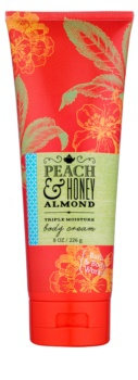 Bath & Body Works Peach & Honey Almond crema corporal para mujer 226 g